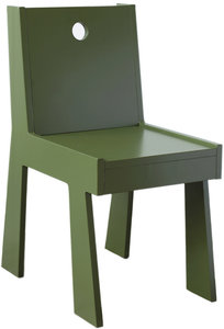 chair, olive green