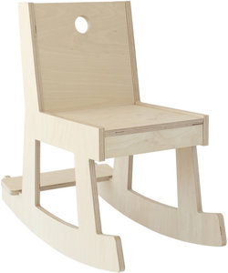 rocking chair, natural finish