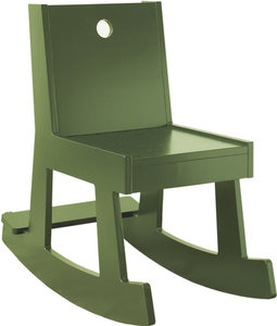 rocking chair, olive green