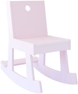 rocking chair, shell pink